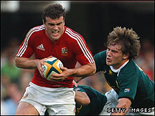 Jamie Roberts (left) and Frans Steyn