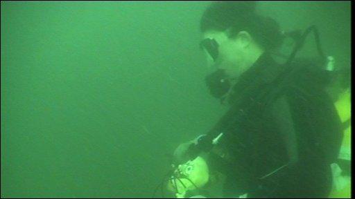 Underwater cyclist