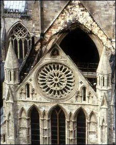 York Minster fire 1984: Photo Dean & Chapter, York Minster
