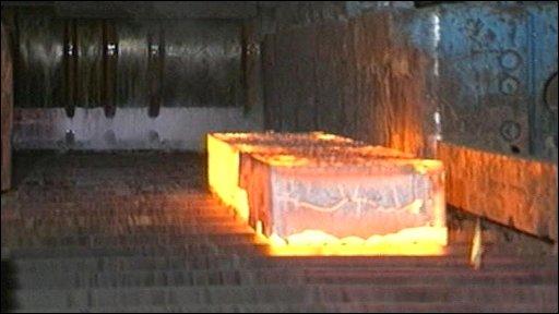 Steelmaking in progress