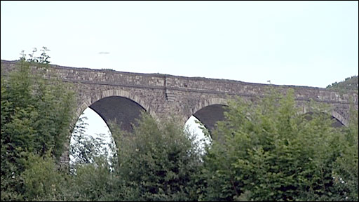 Railway viaduct on Tavistock to Bere Alston line