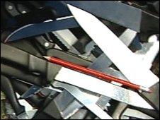 Knives handed in