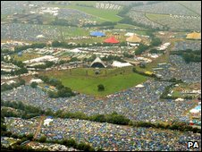 Glastonbury from the air