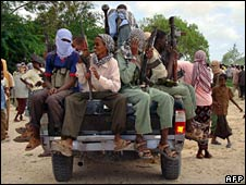 Militia fighters in Mogadishu in June 2006