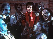 Michael Jackson in 'Thriller' video (1983)