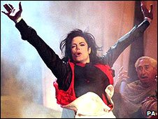 Michael Jackson performs at the Brits Awards in 1996