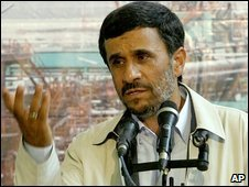 Iranian President Mahmoud Ahmadinejad on 25/6/09