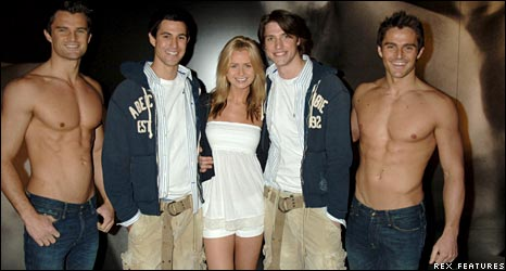 Abercrombie and Fitch staff in London