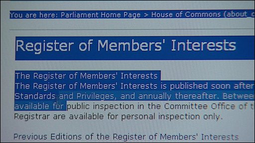 Register of Members' Interests
