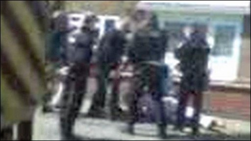 Terrence O'Keefe being arrested