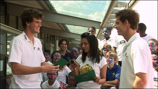 Jamie and Andy Murray with Sonali