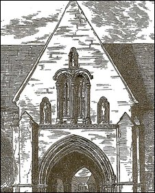Drawing of the Abbey Gatehouse dating from the 1770's