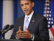 US President Barack Obama speaks at the White House (23 June 2009)
