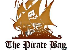 Pirate bay logo, AFP/Getty