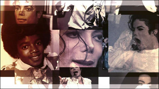 Montage of Michael Jackson's faces