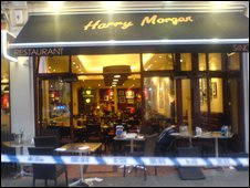 Scene at Harry Morgan restaurant