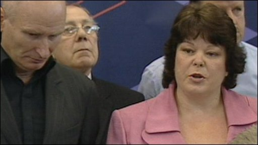 Leader of the UVF-linked Progressive Unionist Party Dawn Purvis