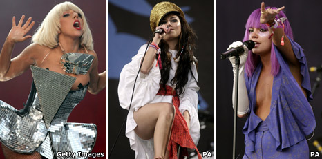 Lady Gaga, Gabriella Cilmi and Lily Allen