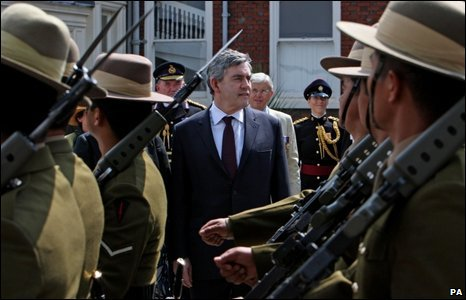 Gordon Brown at Armed Forces Day parade