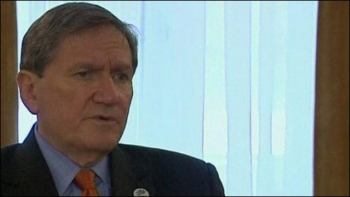 The US's special envoy to Afghanistan Richard Holbrooke