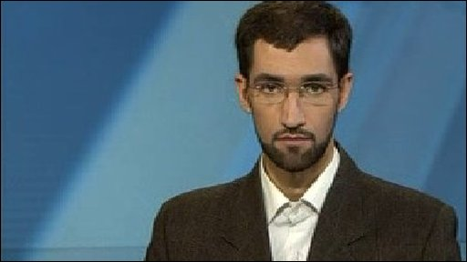Newsreader for Iranian television channel Press TV