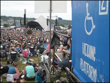 Disabled viewing platform at Glastonbury