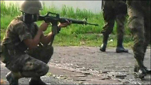 Soldier in Honduras
