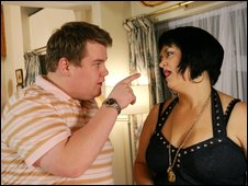 Gavin and Stacey stars James Corden and Ruth Jones