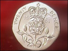 The old style 20p