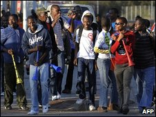 South African football supporters