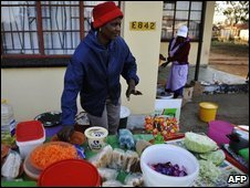 A street vendor during the Confederation Cup