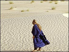 Tuareg man in blue