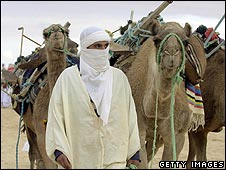 Tuareg tribesman wearing white