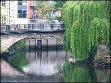 View of the River Wensum as it passes through Norwich