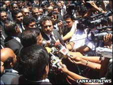 Lawyers demonstrate in Sri Lanka
