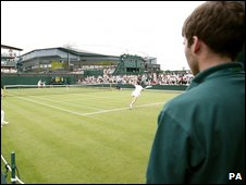A ball boy at Wimbledon