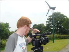 Keith O'Grady at the shoot outside the Amelia Earhart cottage in Derry