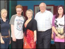 The Brassneck team, including, centre, producer Felicity McCall