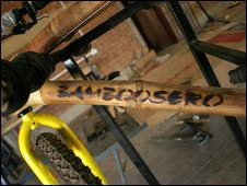 A bamboo bicycle