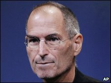 Steve Jobs at Apple HQ in October 2008