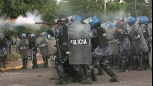 Police fire tear gas