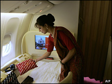 Inside Air India first class