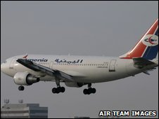 The Yemenia Airbus 310 that crashed - photo Air Team Images