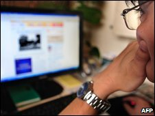 Chinese net user, AFP