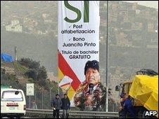 Morales refrendum flag