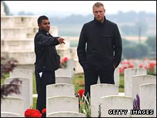 Adil Rashid and Andrew Flintoff