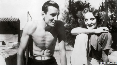 Fred Perry and Marlene Dietrich in 1934