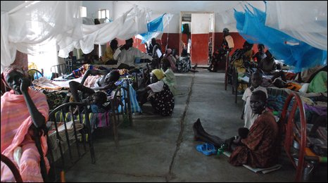 A hospital ward in Nasir, Sudan