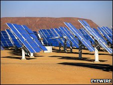 Solar energy plant (eyewire)
