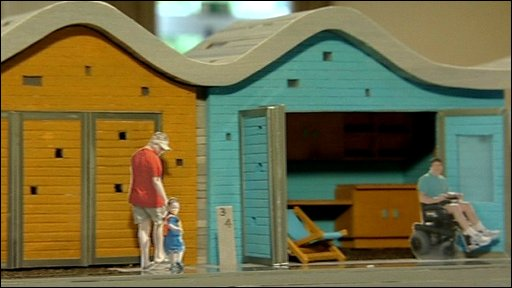 A scale model of how a beach hut could look